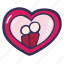 couple, frame, love, photo, portrait, valentines day icon
