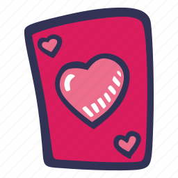 card, feelings, love, playing, romantic, valentines, valentines day icon