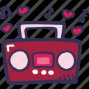 boombox, feelings, love, music, romantic, valentines, valentines day