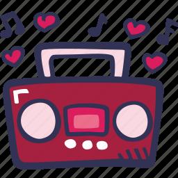 boombox, feelings, love, music, romantic, valentines, valentines day icon