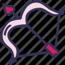 arrow, bow, feelings, love, romantic, valentines, valentines day
