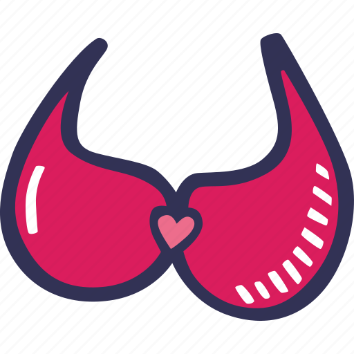 bra, feelings, hand drawn, love, romantic, valentines, valentines day icon