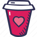 coffee, feelings, love, romantic, valentines, valentines day