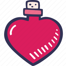 feelings, love potion, potion, romantic, valentines, valentines day icon