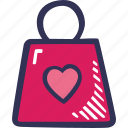 bag, feelings, love, romantic, shopping, valentines, valentines day
