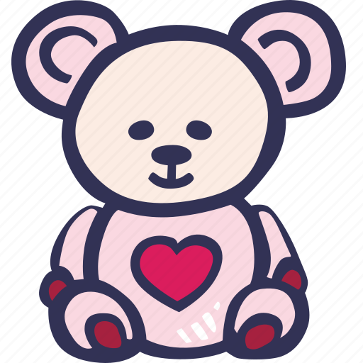 bear, feelings, love, romantic, teddy, valentines, valentines day icon