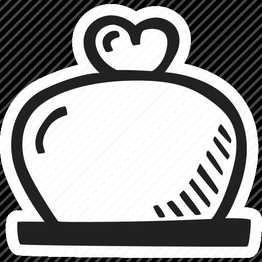 bellglass, feelings, hand drawn, love, romantic, valentines, valentines day icon