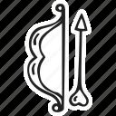 arrow, bow, feelings, love, romantic, valentines, valentines day icon