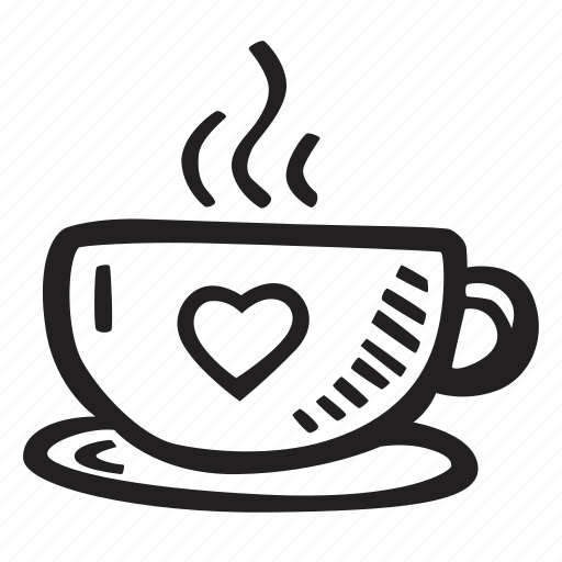 cup, feelings, love, romantic, tea, valentines, valentines day icon