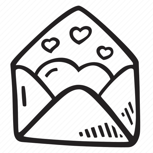 envelope, feelings, love, open, romantic, valentines, valentines day icon