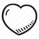feelings, hand drawn, heart, love, romantic, valentines, valentines day icon