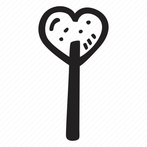 feelings, hand drawn, lolipop, love, romantic, valentines, valentines day icon