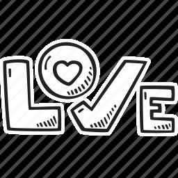 feelings, hand drawn, love, romantic, valentines, valentines day icon