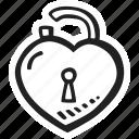 feelings, love, open, padlock, romantic, valentines, valentines day icon