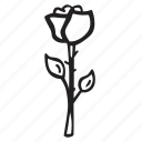 bloom, celebration, flower, love, plant, rose icon