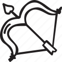 arrow, bow, feelings, love, romantic, valentines, valentines day icon