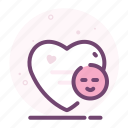 emoji, happy, heart, love, romantic, valentine icon