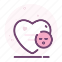 emoji, heart, kiss, love, romantic, valentine icon