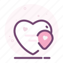 heart, location, love, map, pin, romantic, valentine icon