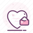email, heart, letter, love, mail, romantic, valentine icon