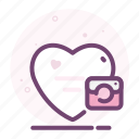 camera1, heart, love, photo, romantic, valentine icon