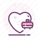 bed, heart, love, romantic, sleep, valentine icon
