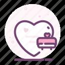 bed, heart, love, romantic, sleep, valentine icon