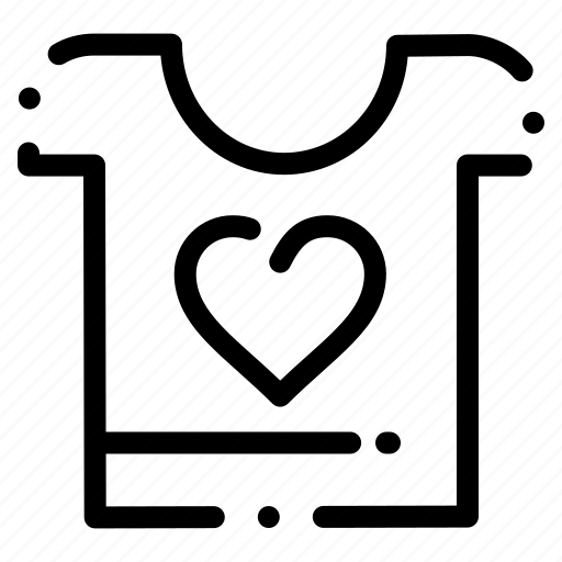 clothes, heart, love, wedding icon
