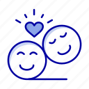 avatar, couple, emoji, faces, smiley, valentine