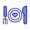 romantic, food, couple, date, dinner icon
