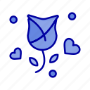 flower, love, propose, rose, valentine icon