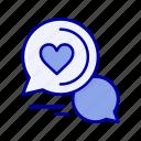 bubble, chat, couple, message, romantic, sms icon