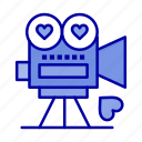 camera, love, movie, valentine, video icon