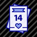 card, day, feb, love, valentine, valentines