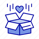 box, delivery, gift, surprize icon
