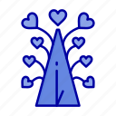 day, heart, love, tree, valentine, valentines icon