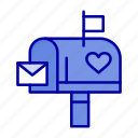 box, letter, love, mail