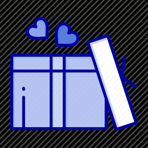 gift, heart, love, wedding icon
