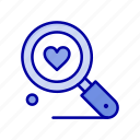 heart, love, search, wedding icon
