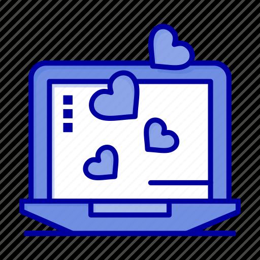 Heart, laptop, love, wedding icon - Download on Iconfinder