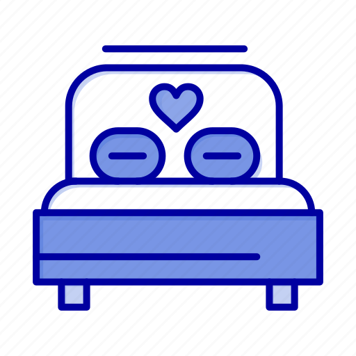 Bed, heart, love, wedding icon - Download on Iconfinder