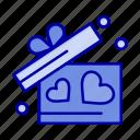 gift, heart, love, wedding