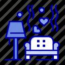 heart, love, lump, sofa, wedding