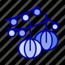 balls, decoration, hanging, lantern icon