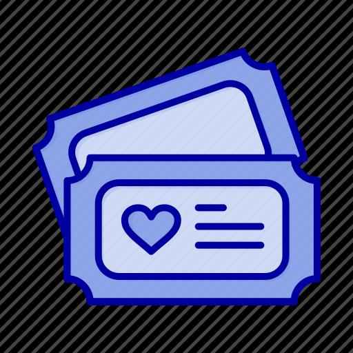 Heart, love, tecket, wedding icon - Download on Iconfinder