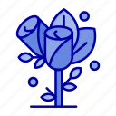 flower, heart, love, wedding icon