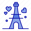 heart, love, tower, wedding