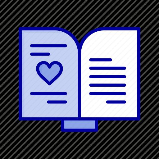 Book, heart, love, wedding icon - Download on Iconfinder