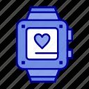handwatch, heart, love, wedding icon