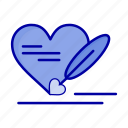 heart, love, pen, wedding icon